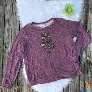 Lucky Brand Lucky Lotus Hamsa Hand Sweatshirt